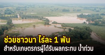 ช่วยเหลือเกษตรกรผู้ได้รับผลกระทบจากน้ำท่วม