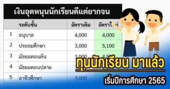 ทุนการศีกษานักเรียนปี 2565